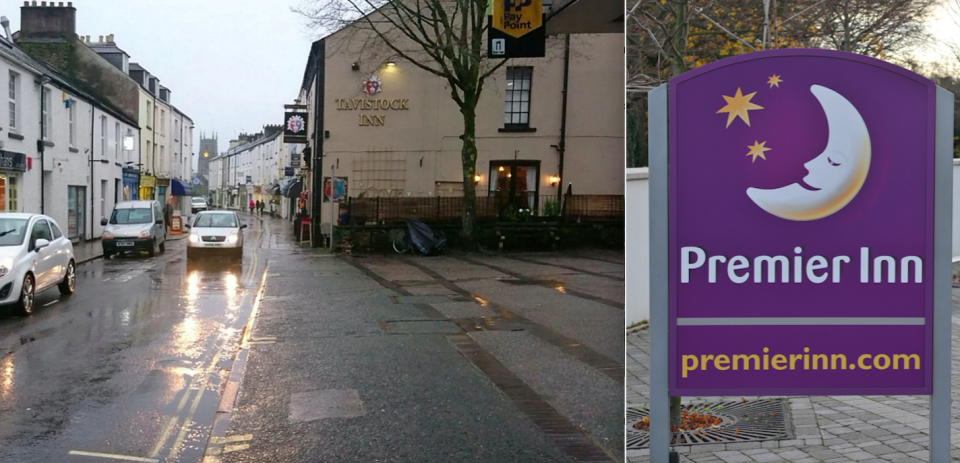 <em>Tavistock has successfully blocked plans for a Premier Inn to be built in the town (SWNS)</em>