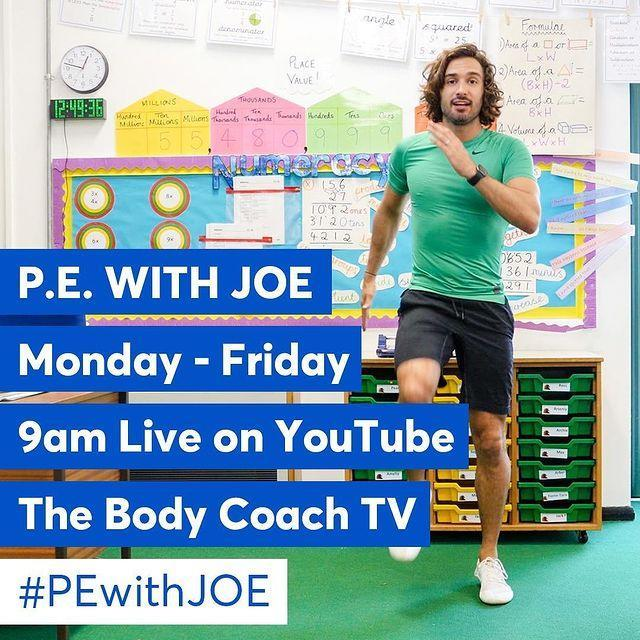 "<p>Personal trainer and fitness influencer Joe Wicks, better known as the Body Coach, on social media is helping parents up and down the country who are home schooling their children from today after schools were ordered to close last Friday.</p><p>From Monday to Friday at 9am, Wicks will be streaming 30-minute long live PE classes that children can do from their homes. </p><p>In October, Wicks was awarded an MBE from the Queen for his contribution. When the UK went into a third lockdown in January 2021 and schools closed their doors once again, Wicks resumed his fitness classes.</p><p><a href=""https://www.instagram.com/p/B-DPT-dDuqi/"" rel=""nofollow noopener"" target=""_blank"" data-ylk=""slk:See the original post on Instagram"" class=""link rapid-noclick-resp"">See the original post on Instagram</a></p>"