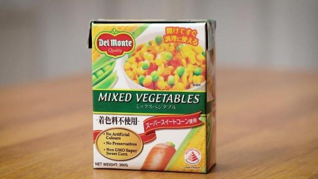 Del monte mixed vegetables packaging