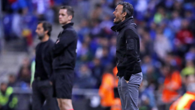 Encouraged by the convincing derby win over Espanyol, Luis Enrique says Barcelona will give everything to win LaLiga and Copa del Rey.
