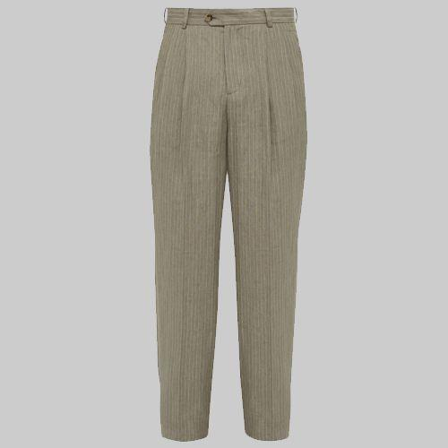 "<p><a rel=""nofollow"" href=""https://www.matchesfashion.com/products/%C3%89ditions-M-R-Paul-high-rise-pleated-linen-trousers-1260267"">SHOP</a></p><p>Parisian style has long held sway. But now, you can look to Southern France for a Gallic glow-up, with native outfit Éditions M.R channeling that ever-suspicious, hard-faced Toulouse grandpa with some workwear linen trousers. </p><p><em>Paul Linen Trousers, £300, <a rel=""nofollow"" href=""https://www.matchesfashion.com/products/%C3%89ditions-M-R-Paul-high-rise-pleated-linen-trousers-1260267"">matchesfashion.com</a></em></p>"
