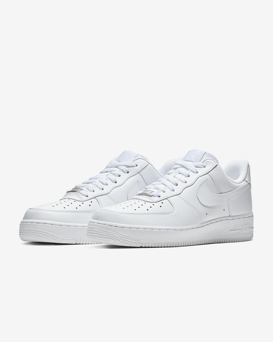 """<p><strong>Nike</strong></p><p>nike.com</p><p><strong>$90.00</strong></p><p><a href=""""https://go.redirectingat.com?id=74968X1596630&url=https%3A%2F%2Fwww.nike.com%2Ft%2Fair-force-1-07-womens-shoe-KyTwDPGG&sref=https%3A%2F%2Fwww.seventeen.com%2Ffashion%2Ftrends%2Fg29036093%2Fvsco-girl-brands-starter-pack%2F"""" rel=""""nofollow noopener"""" target=""""_blank"""" data-ylk=""""slk:Shop Now"""" class=""""link rapid-noclick-resp"""">Shop Now</a></p><p>There's a reason why these shoes sell out, like <em>all </em>the time. They're a classic style that goes with anything – and somehow still looks cool, no matter how dirty you get them. (Oh and btw, <a href=""""http://www.seventeen.com/fashion/celeb-fashion/a33298548/millie-bobby-brown-wears-nike-air-force-1-sneakers/"""" rel=""""nofollow noopener"""" target=""""_blank"""" data-ylk=""""slk:Millie Bobby Brown just wore them"""" class=""""link rapid-noclick-resp"""">Millie Bobby Brown just wore them</a>.) </p>"""