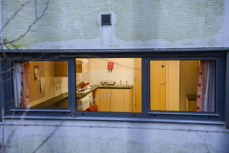 A view inside the accomodation block at Arrowe Park Hospital in the Wirral, Merseyside where British citizens are to be quarantined after flying back from China - 31st January 2020