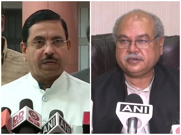 Union Ministers Pralhad Joshi and Narendra Singh Tomar (File Photos)