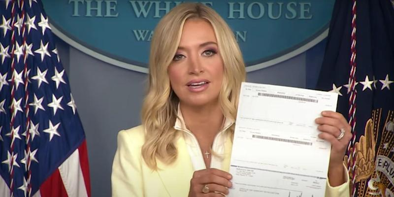 White House press secretary, Kayleigh McEnany