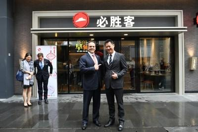 Governor Bevin and Jeff Kuai, General Manager of Pizza Hut China