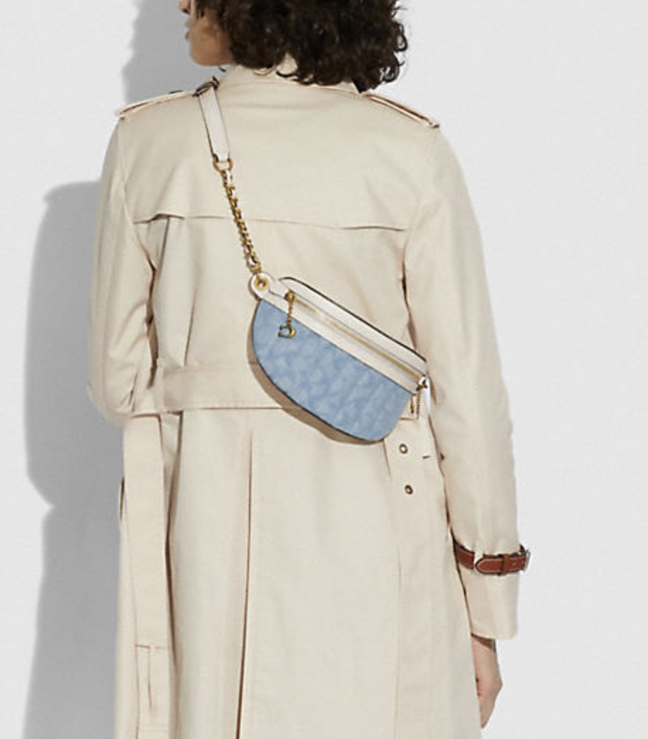 Chain Belt Bag In Signature Chambray With Quilting - Coach Canada