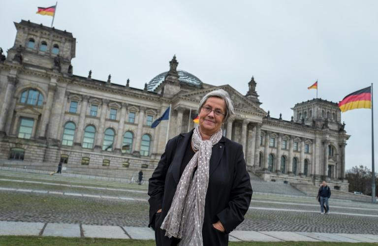 Karin Felix, who worked as a tour guide through the Reichstag for 25 years before retiring, has made it her life's work to trace the people and stories behind the graffiti left behind by the Red Army soldiers