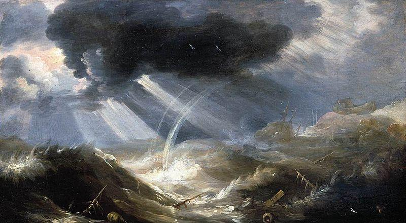 'The Great Flood' by Bonaventura Peeters the Elder in the 17th century: this is what a cataclysm should look like