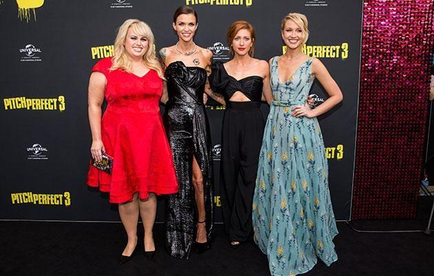 Ruby was joined by Rebel, Anna, and Brittany at the premiere. Source: Getty