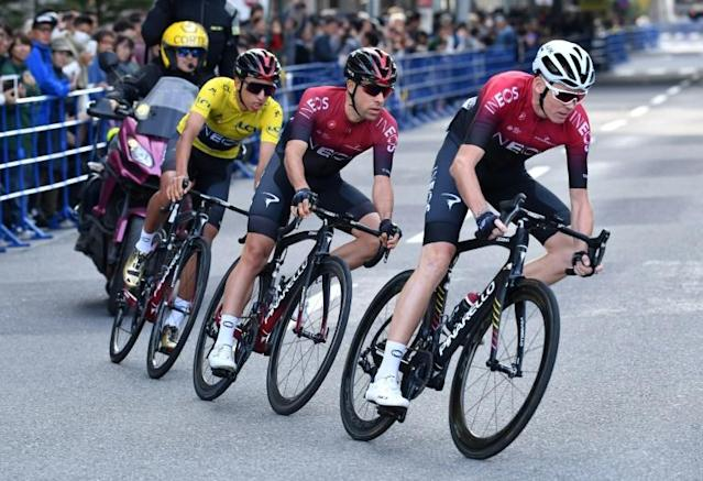 Chris Froome back in the saddle at Saitama in October (AFP Photo/Kazuhiro NOGI)