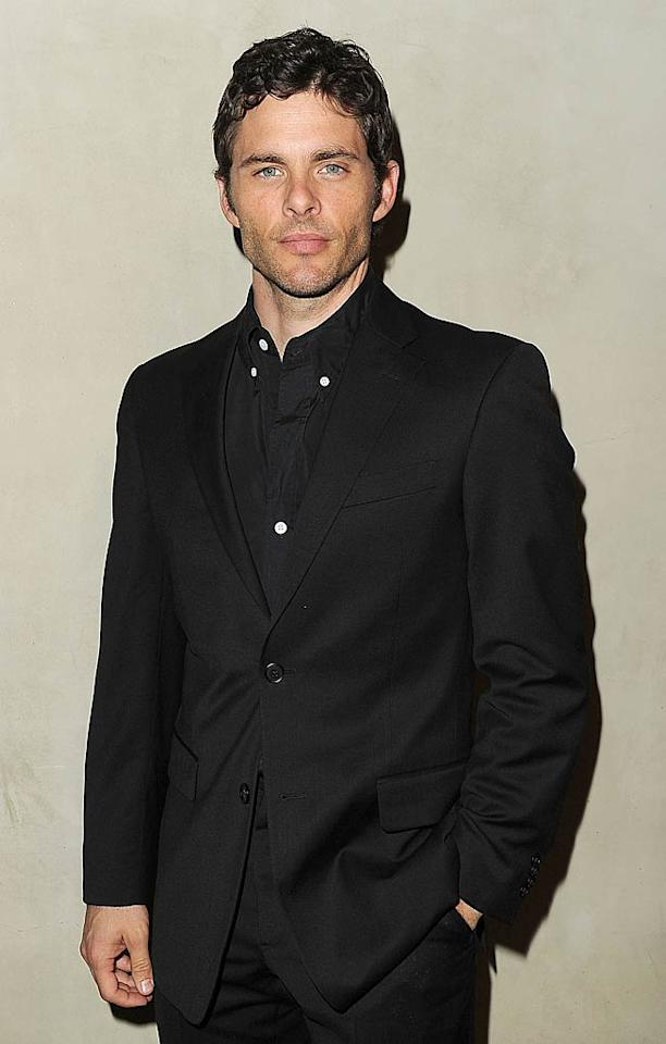 "Man in black James Marsden (""Ally McBeal"") stayed serious as he arrived at the dinner. The 38-year-old will star in the upcoming film ""Bachelorette,"" opposite Kirsten Dunst and Isla Fisher.   Jason Merritt/GettyImages.com - October 11, 2011"