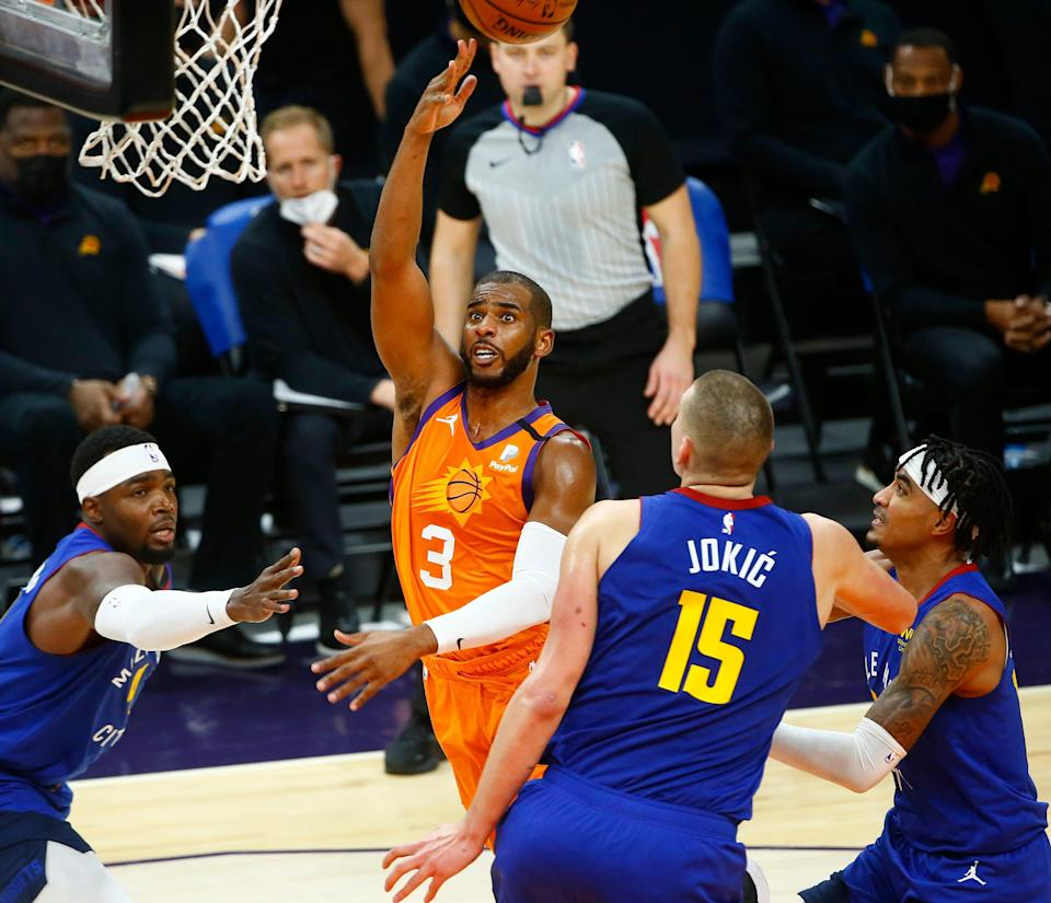 Led by veteran guard Chris Paul (3), this could be the season that the young Suns reach the NBA Finals for the first time since 1993.