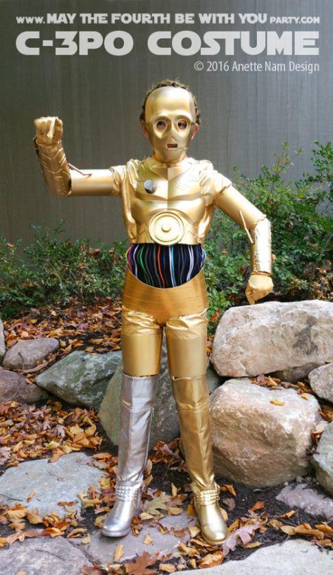 """<p>Stay golden in this <em>Star Wars</em> robot costume for Halloween.</p><p><strong>Get the tutorial at <a href=""""https://maythefourthbewithyoupartyblog.com/2016/08/10/gold-winner-diy-c-3po-costume/"""" rel=""""nofollow noopener"""" target=""""_blank"""" data-ylk=""""slk:May the Fourth Be With You"""" class=""""link rapid-noclick-resp"""">May the Fourth Be With You</a>.</strong></p><p><a class=""""link rapid-noclick-resp"""" href=""""https://www.amazon.com/Rubies-Unisex-Adults-Classic-Cooper-C-3PO/dp/B079K79778/?tag=syn-yahoo-20&ascsubtag=%5Bartid%7C10050.g.21287723%5Bsrc%7Cyahoo-us"""" rel=""""nofollow noopener"""" target=""""_blank"""" data-ylk=""""slk:SHOP C-3PO MASKS"""">SHOP C-3PO MASKS</a></p>"""