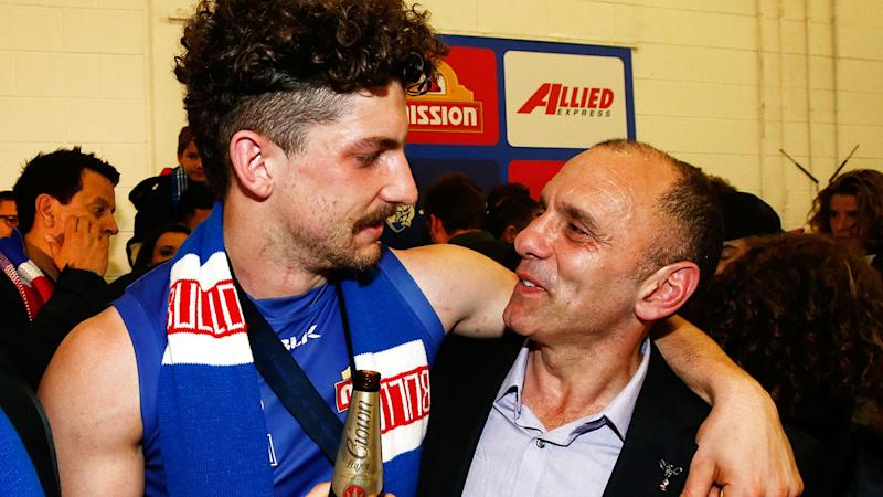 Tony Liberatore says criticism of the Western Bulldogs from commentator Gerard Whately is 'out of line'. (Photo by Adam Trafford/AFL Media/Getty Images)