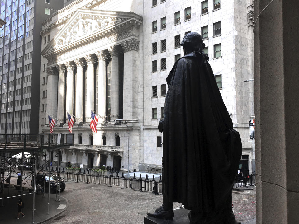 Photo by: STRF/STAR MAX/IPx 2020 7/22/20 Wall Street inches higher as tech boost offsets Sino-U.S. worries. Tesla and Microsoft report today after the closing bell.