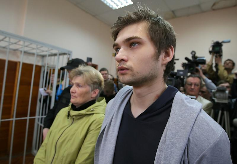 The case sparked comparisons with the one that saw members of the Pussy Riot punk group sent to prison for a performance critical of President Vladimir Putin in a Moscow cathedral (AFP Photo/Konstantin Melnitskiy)