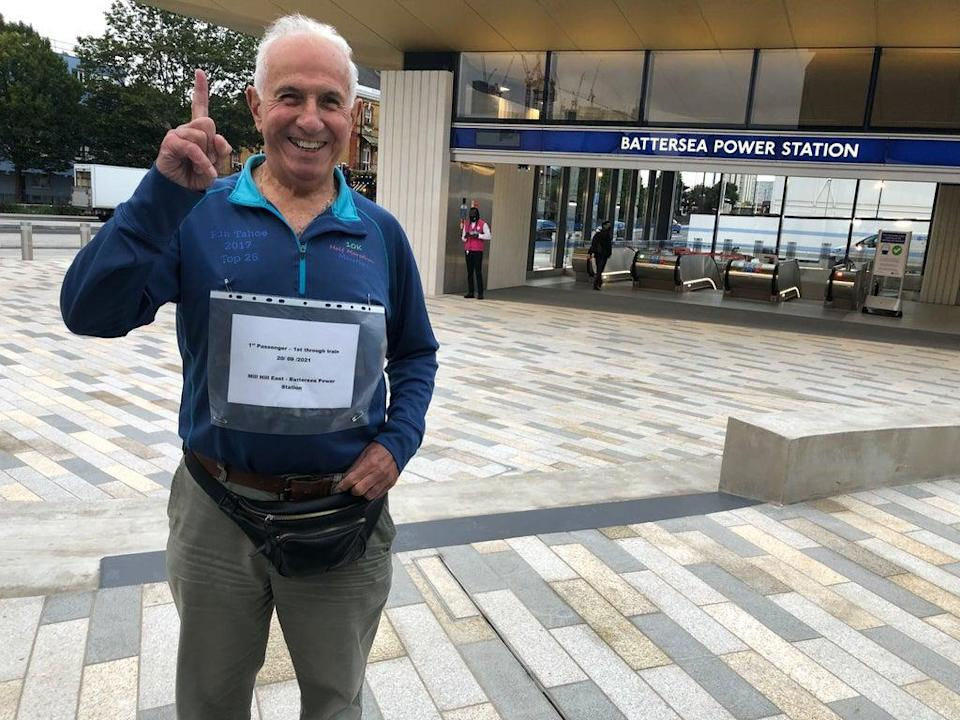 Record breaker: Peter Torre, the first person to travel direct from Mill Hill East to Battersea Power Station (Simon Calder)
