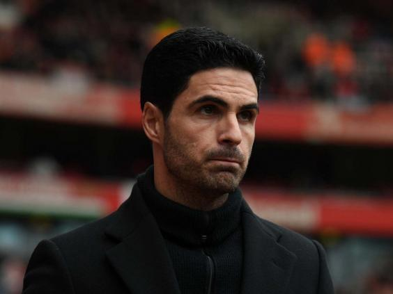 Mikel Arteta is not letting his Arsenal players relax (Getty)