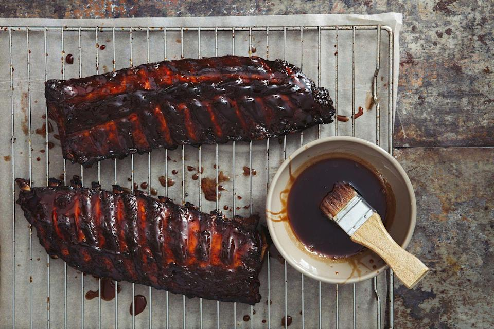 """<p>""""Saucing too early can cause the sugars in barbecue sauce to overcook and burn instead of turning into a finger licking good glaze on your ribs and chicken,"""" Chef Kevan Vetter, executive chef and director of culinary development for McCormick, tells Woman's Day. Wait till the last five to 15 minutes of cooking, as this will make allow the sauce to slightly caramelize and set on the meat.</p>"""