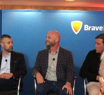 Jeff August of UpStack discusses hybrid cloud environments and edge networks at Tierpoint's BraveIT conference on September 19, 2019. He was joined by Colby Synesael of Cowen, Chris Crosby of Compass Data Centers, Jason Tofsky of Goldman Sachs, and David Sangster of Nutanix. The panel was moderated by Mary Meduski.