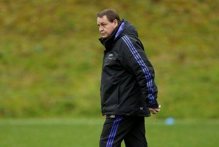 Rugby Union - New Zealand Captain's Run - Pennyhill Park, Bagshot, Surrey - 30/10/15 New Zealand head coach Steve Hansen during training Action Images via Reuters / Henry Browne Livepic