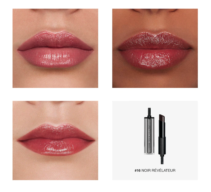 Givenghy Rouge Interdit Vinyl Color Enhancing Lipstick changes colour based on your body's pH. Image via Sephora.