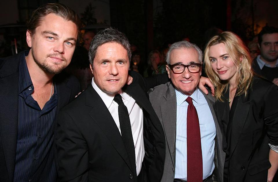 <p>The duo mingled at Paramount's Pre-Golden Globes party with CEO Brad Grey, and director Martin Scorsese on January 16, 2010 (Photo: Alex J. Berliner/BEI)</p>
