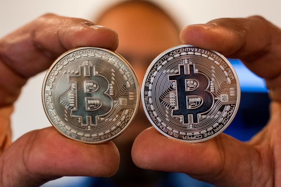 Bitcoin remains the most popular crypto currency to buy. Photo: Jack Guez/AFP/Getty Images