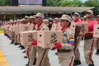 FILE PHOTO: Military parade to celebrate the 208th anniversary of Venezuela's independence in Caracas