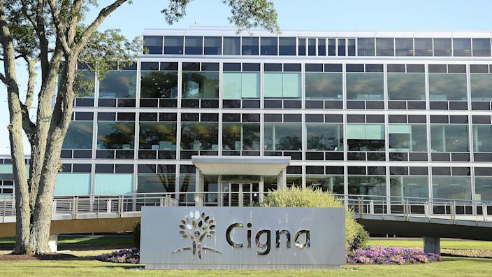 Mandatory Credit: Photo by Cj Gunther/EPA/Shutterstock (7934276c)Cigna Logo Seen Outside the Company's Headquarters Building in Bloomfield Connecticut Usa 24 July 2015 Media Reports on 24 July 2015 State Anthem Corp is to Take Over the Rival Us Company Cigna Corp For More Than 48 Billion Usd with Anthem Paying 188usd a Share For Cigna Bringing the Total Value of the Transaction to 54 2 Billion Usd the Move if Given Green Light by Antitrust Authorities Would Create the Largest Us Health Insurance Company with a Combined 53 Million Members and Leaving Current Leading Insurer Unitedhealth Group Inc in Second Position United States BloomfieldUsa Economy Anthem Cigna - Jul 2015.