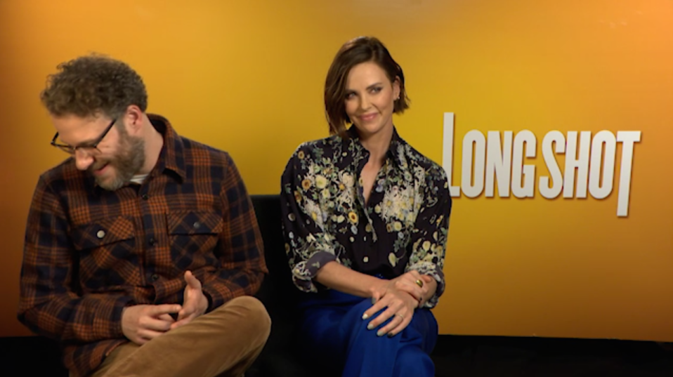 Seth Rogen and Charlize Theron discuss <em>Long Shot</em>, in UK cinemas on 3 May