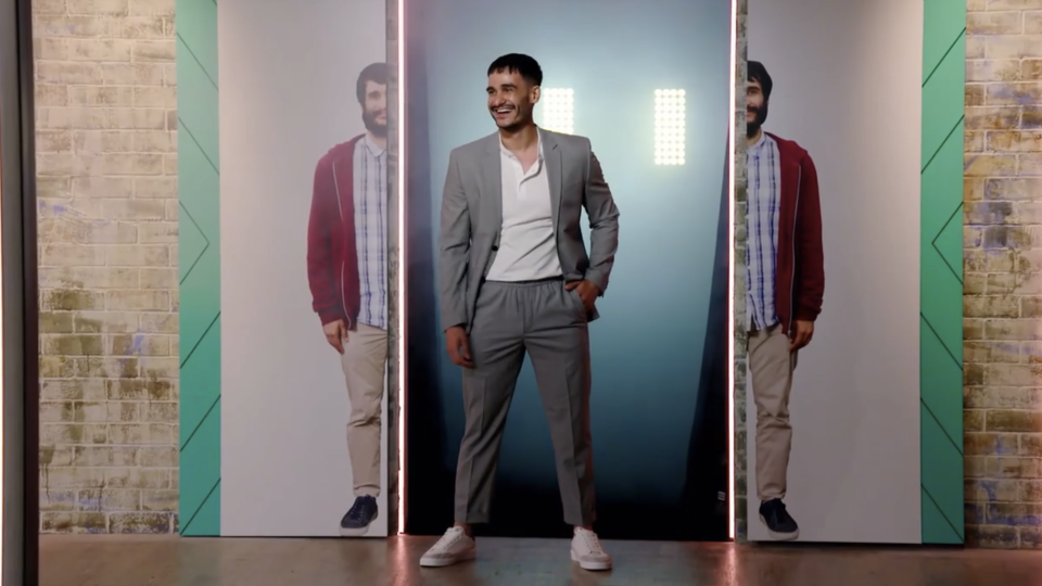 Kiran's new look featured a hipster haircut and some sleek new clothes. Photo: Nine