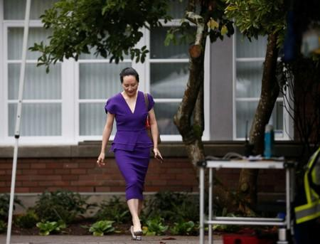 Huawei Technologies Chief Financial Officer Meng Wanzhou leaves her home to appear for a hearing at British Columbia supreme court, in Vancouver, British Columbia