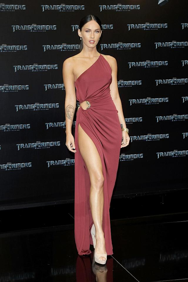 "<a href=""http://movies.yahoo.com/movie/contributor/1808488000"">Megan Fox</a> at the Berlin premiere of <a href=""http://movies.yahoo.com/movie/1809943432/info"">Transformers: Revenge of the Fallen</a> - 06/14/2009"