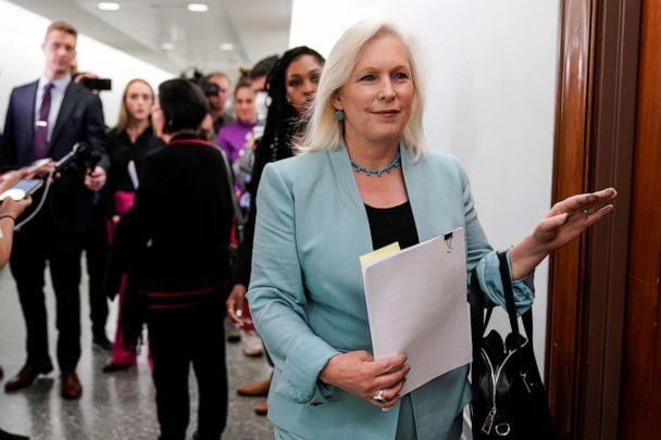 Sen. Kirsten Gillibrand, D-N.Y. arrives for a Senate Armed Services Committee hearing on Capitol Hill on June 22, 2021. (Joshua Roberts/Reuters)