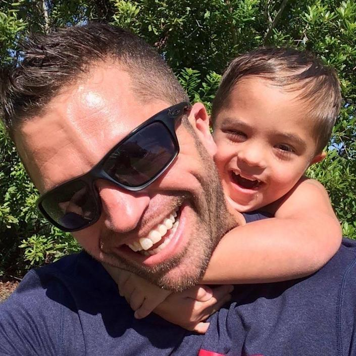 Brian Horn is pictured with his son, Jackson, who has Down syndrome. (Courtesy of Brian Horn)