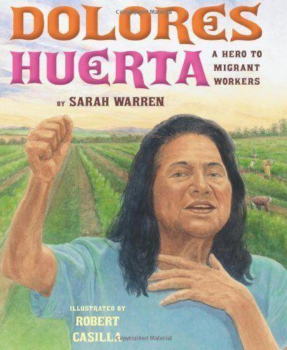 "In this book by Sarah Warren, labor activist and civil rights icon <a href=""https://www.huffingtonpost.com/entry/dolores-huerta-documentary-biopic_us_59bc08bee4b02da0e141a268"">Dolores Huerta</a> takes the center stage. (Illustrated by Robert Casilla)"