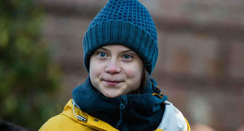 An image of Greta Thunberg who criticised Australia's climate change inaction.