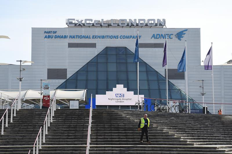 The ExCel centre in London, which has been made into the temporary NHS Nightingale hospital to help tackle the coronavirus outbreak.