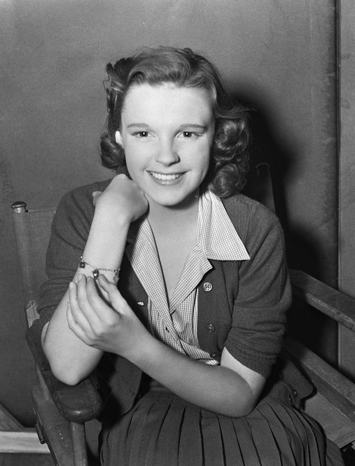 """<p>Minimal child labor laws meant that studios could require children to work just as much as their adult counterparts. For Judy Garland, that meant working six days per week and up to 18-hour shifts filled with singing and dancing. <a href=""""https://timeline.com/hollywood-drugs-1930s-6b27a1404552"""" rel=""""nofollow noopener"""" target=""""_blank"""" data-ylk=""""slk:&quot;Pep pills&quot;"""" class=""""link rapid-noclick-resp"""">""""Pep pills""""</a> (amphetamine uppers) gave her energy, and sleeping pills helped when she couldn't rest at night.</p>"""
