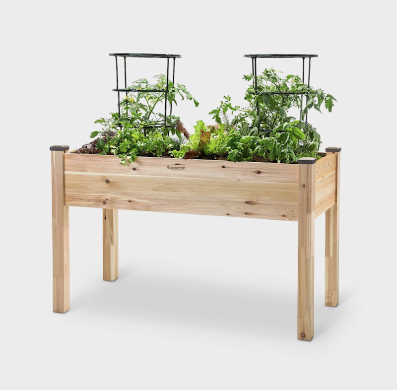 It's time to work on your green thumb. SHOP NOW: Elevated Rectangular Cedar Planter by CedarCraft, $170 $200, target.com