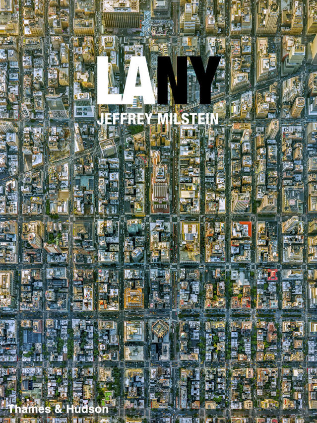"<p>Book jacket of ""LA NY: Aerial Photographs of Los Angeles and New York"" by Jeffrey Milstein. (Photo: Thames & Hudson) </p>"