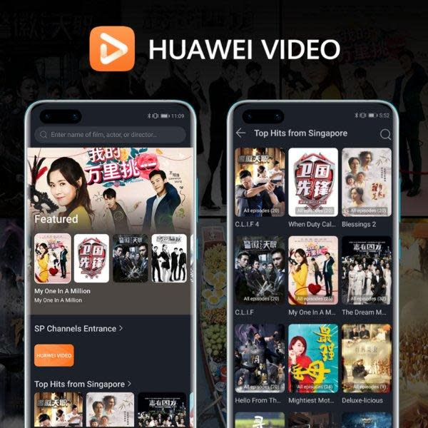 – HUAWEI Video, the video-on-demand (VOD) streaming platform by HUAWEI, is partnering with Mediacorp Pte. Ltd. (Mediacorp), Singapore's national media network and largest content creator, to provide a variety of original video content on-demand for users in Hong Kong. The video content includes a collection of original television series and lifestyle titles for users to watch conveniently on-the-go.