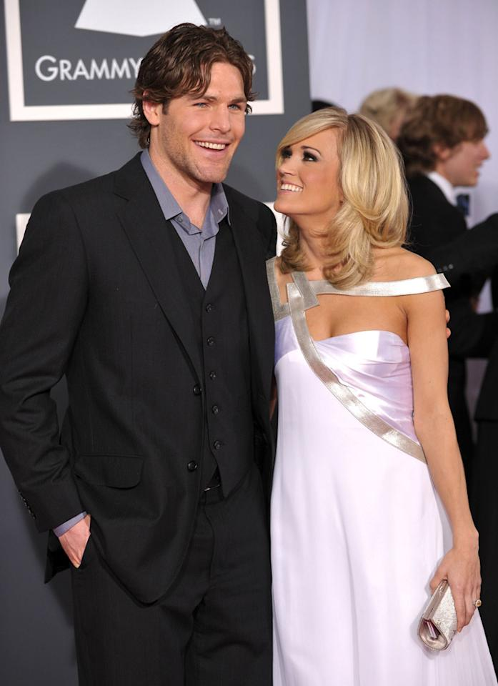 "Country cutie Carrie Underwood and Ottawa Senators hockey player Mike Fisher also wed on July 10. Fisher popped the question last December with a 12-carat ring worth about $800,000! John Shearer/<a href=""http://www.wireimage.com"" target=""new"">WireImage.com</a> - January 31, 2010"