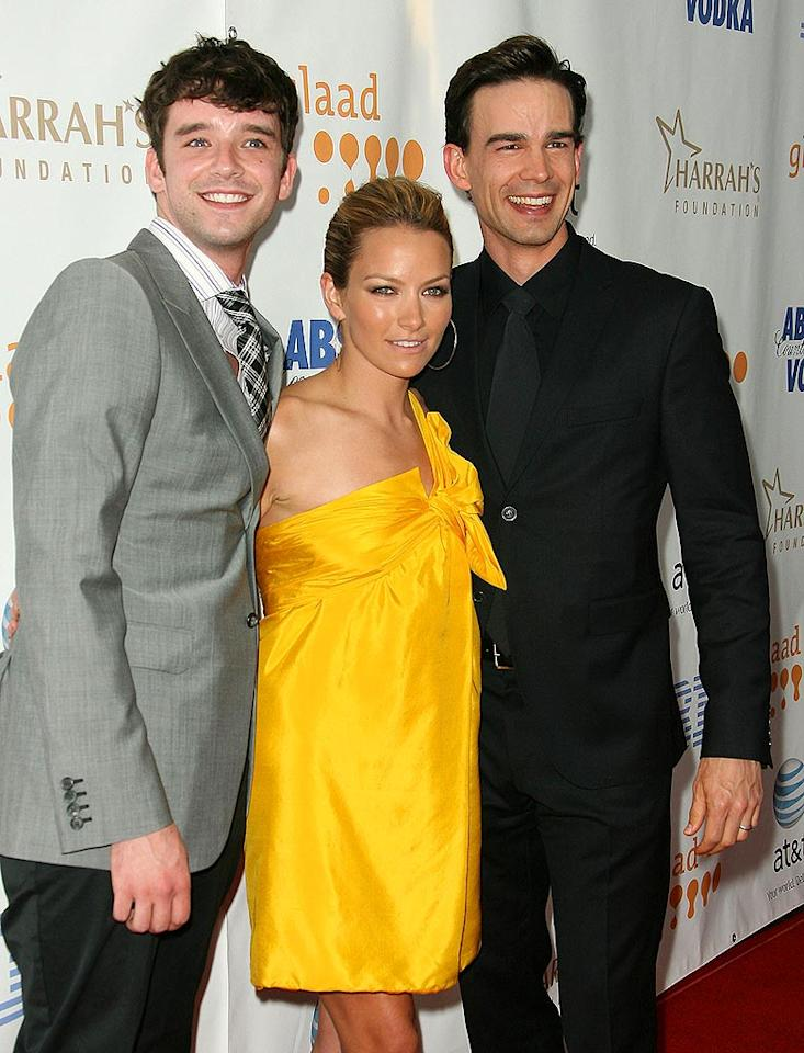 """Ugly Betty"" stars Michael Urie, Becky Newton, and Christopher Gorham arrive for the 19th Annual GLAAD Media Awards held at the Kodak Theatre in Hollywood. Jordan Strauss/<a href=""http://www.wireimage.com"" target=""new"">WireImage.com</a> - April 26, 2008"