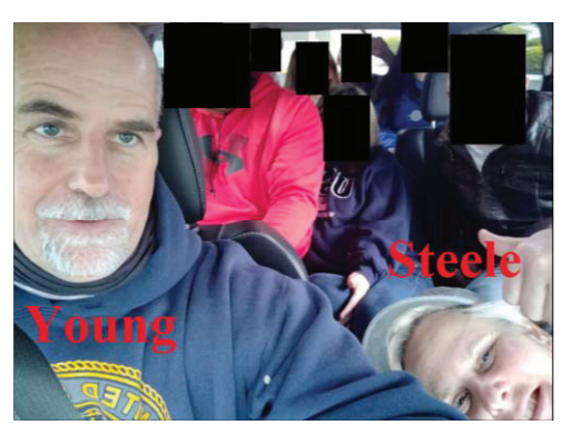 Graydon Young is the brother of one of his co-conspirators, Laura Steele, pictured here in a photo included in court documents. / Credit: Department of Justice
