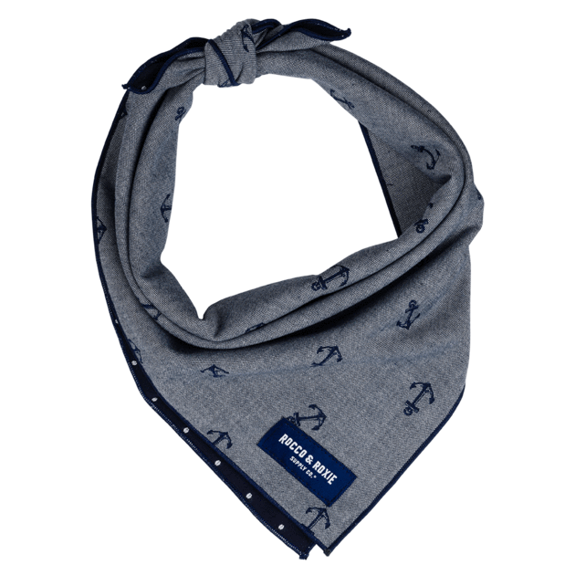 """<p><strong>Rocco & Roxie</strong></p><p>roccoandroxie.com</p><p><strong>$15.97</strong></p><p><a href=""""https://roccoandroxie.com/collections/bandanas/products/the-nautical-bandana"""" rel=""""nofollow noopener"""" target=""""_blank"""" data-ylk=""""slk:SHOP IT"""" class=""""link rapid-noclick-resp"""">SHOP IT</a></p><p>The nautical print on this gorgeous hand-sewn, limited edition bandanna—Rocco & Roxie bring in new prints every season—has just about killed me. Plus, it comes in three sizes, so you won't have to worry about tying it just right so the knot remains subtle.</p>"""