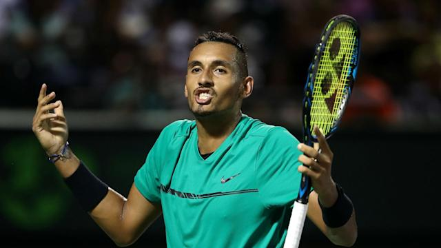 Jeers rang out as Roger Federer defeated Nick Kyrgios in Miami, leaving the Australian determined to win over spectators.