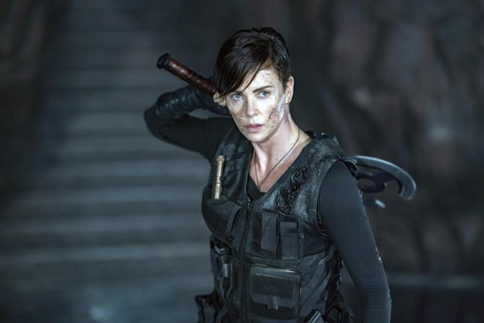 """<p>A group of immortal mercenaries—led by the great Charlize Theron as Andy—who have protected the world for centuries are forced to protect themselves when they find a new member and their secrets are exposed. </p> <p><a href=""""https://www.netflix.com/title/81038963"""" rel=""""nofollow noopener"""" target=""""_blank"""" data-ylk=""""slk:Available to stream on Netflix"""" class=""""link rapid-noclick-resp""""><em>Available to stream on Netflix</em></a></p>"""